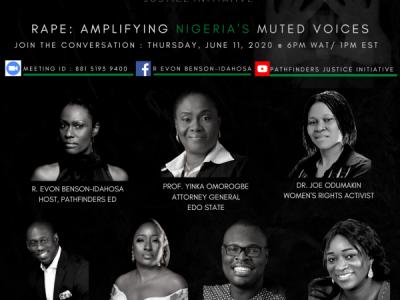 Chude Jideonwo speaks on Rape: Amplifying Nigeria's Muted Voices.