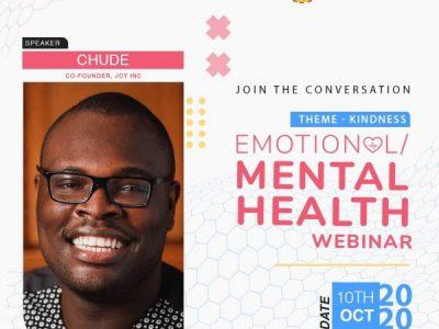 Chude Jideonwo to Speak at TMC Emotional/Mental Health Webinar